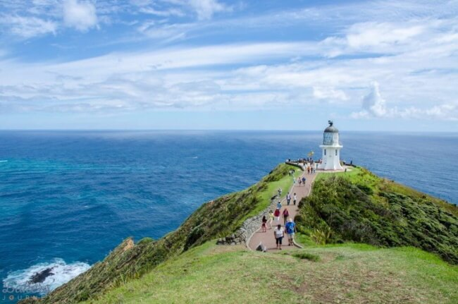 Hiking to the Cape Reinga lighthouse-New Zealand road trips