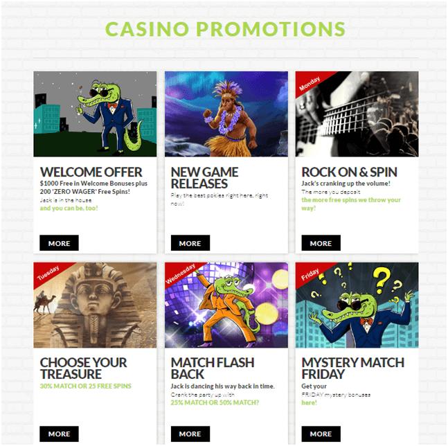Bonuses at House of Jack Casino NZD