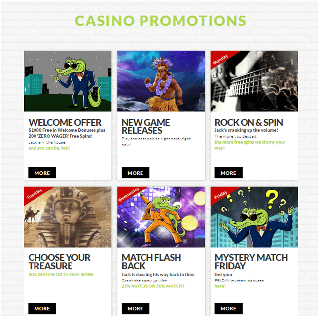 Bonuses at House of Jack Casino NZD