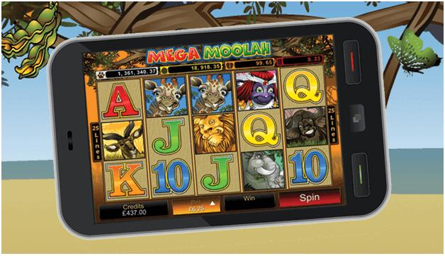 How to play Mega Moolah with mobile