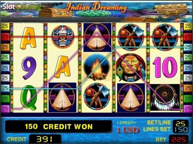 Indian Dreaming pokies features