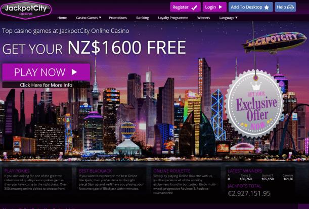 Jackpot City Casino NZD