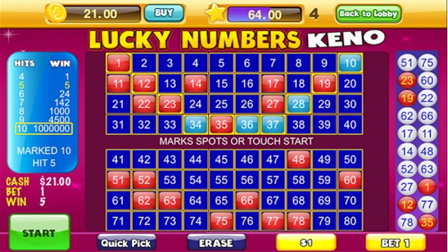 Lucky Numbers Keno