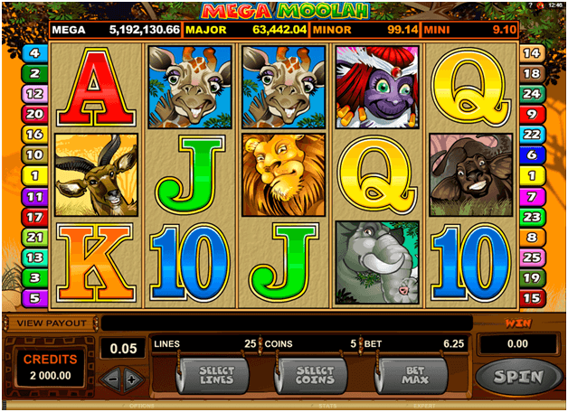 Mega Moolah Progressive pokie how to win