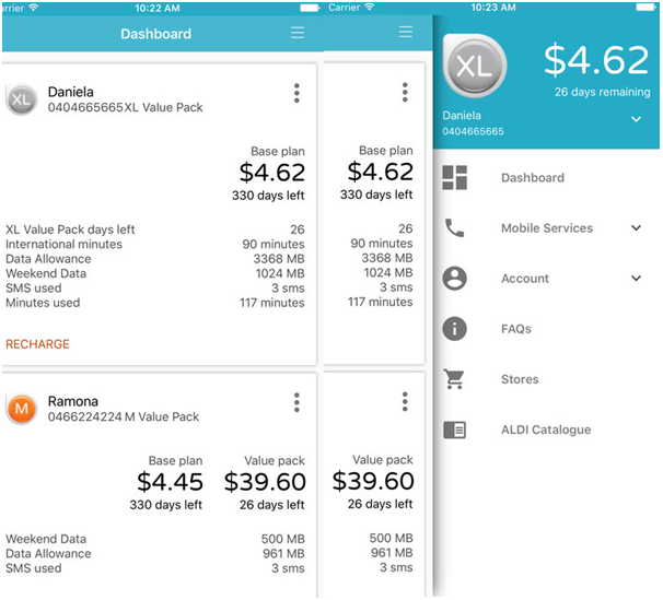 Aldi App Screenshot Check Mobile Balance