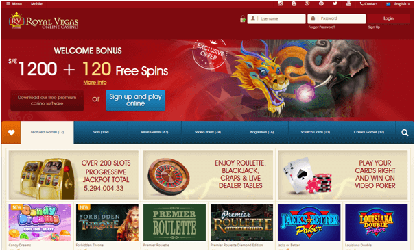 Royal Vegas Casino NZ playing online and mobile pokies