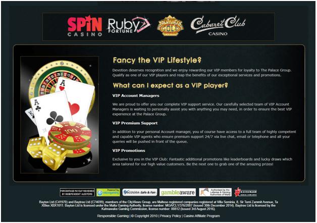 Ruby Fortune Casino VIP Tiers