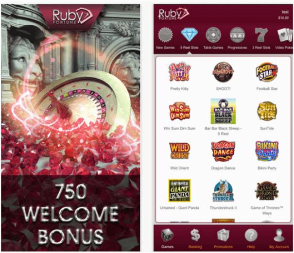 Ruby Fortune Casino Mobile