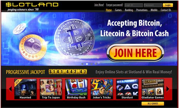 Slotland casino Bitcoin casinos