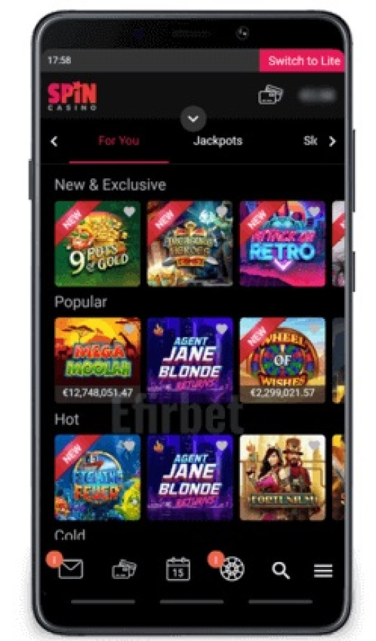 Spin Casino on Mobile