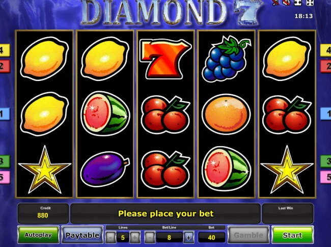 There are very few 7 reel slot games to play