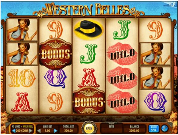 Western Belles pokie