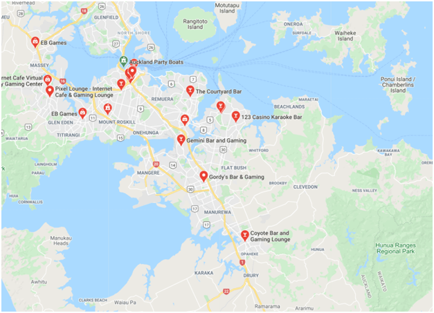 gaming lounges in Auckland NZ
