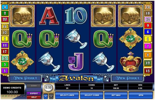 Avalon pokies game features