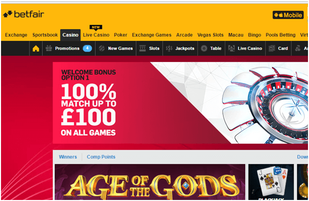 Betfair Casinos