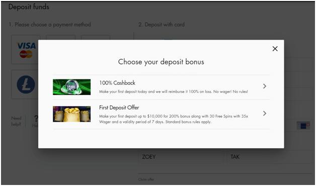 Cashback bonus in real AUD
