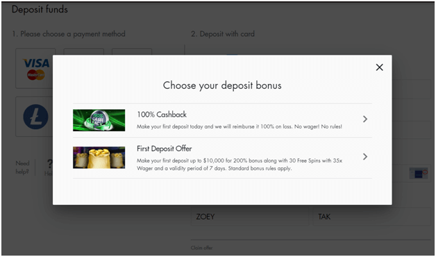 Cashback bonus in real AUD