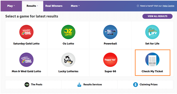 Check Australian lottery results online