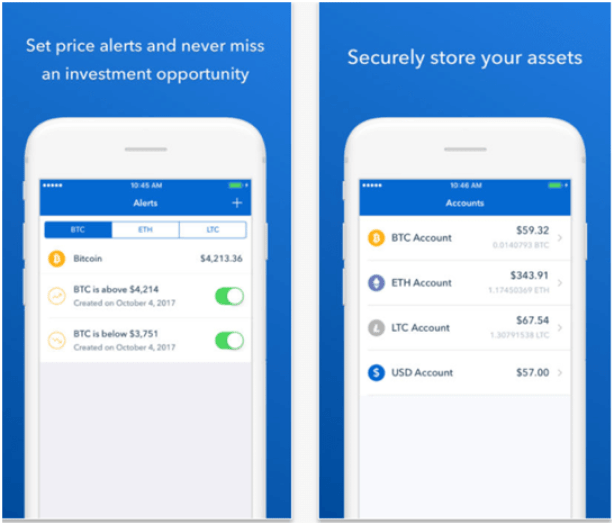 Coinbase app features