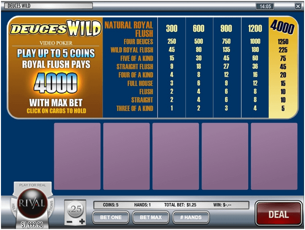 Deuces Wild Multihand poker