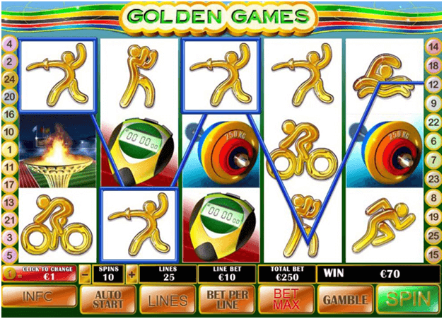 Sports Championship Theme Golden games pokies