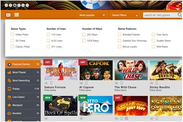 How to use casino filters to select best pokies at casinos
