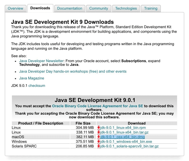 Install JDK on your Mac