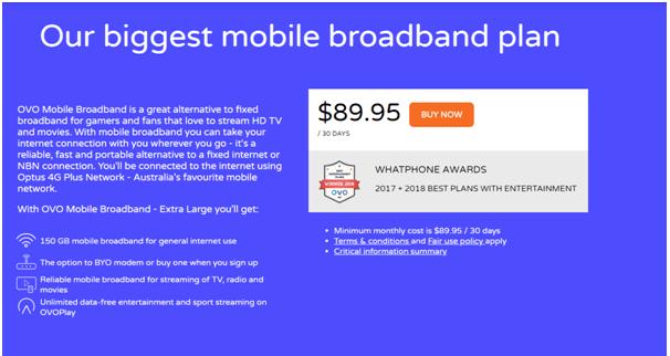 OVO mobile data plan
