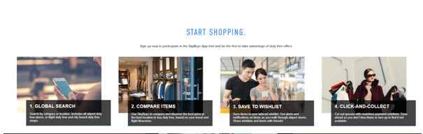 SkyBuys app for duty free shopping