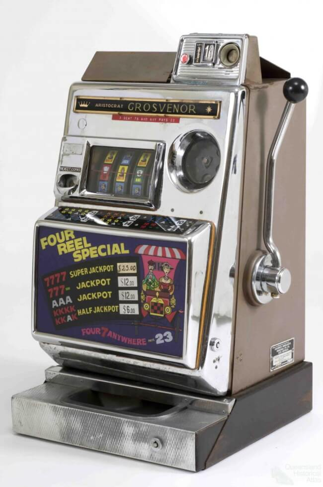 The First pokies machine