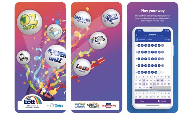 The lott AU lottery app