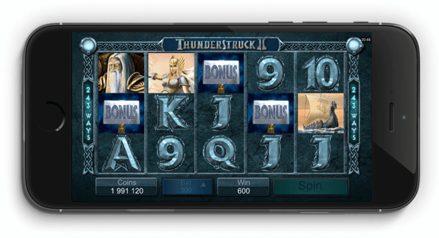 Thunderstruck II pokies on mobile