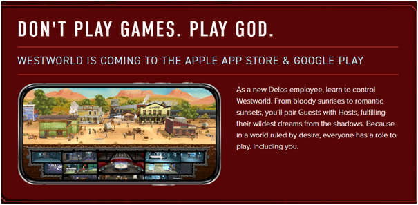 How to play Westworld game on your mobile