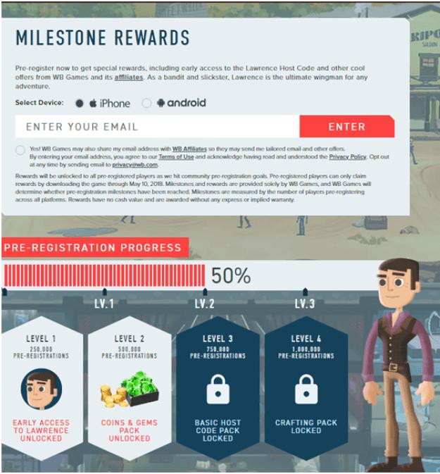 Pre regsiter Westworld game and get rewards