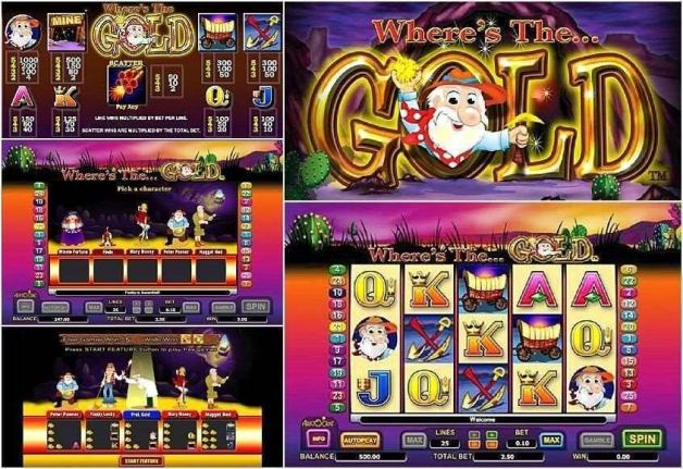 Free spins in Where's the gold pokies