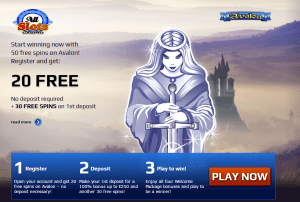 20 free spins Avalon Pokies at All Slots