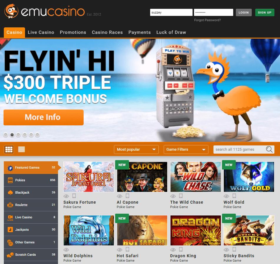 Emu Casino AUD
