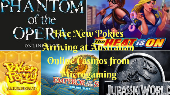 Five new pokies arriving at Australian online casinos