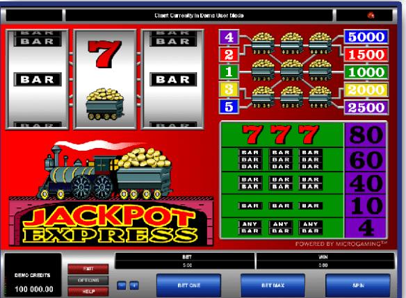 Jackpot Express pokies game