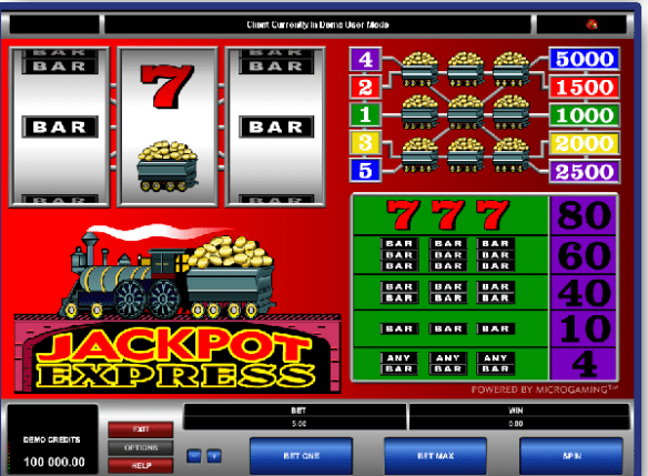 Jackpot Express pokies game