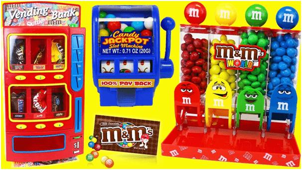M&M toy pokies
