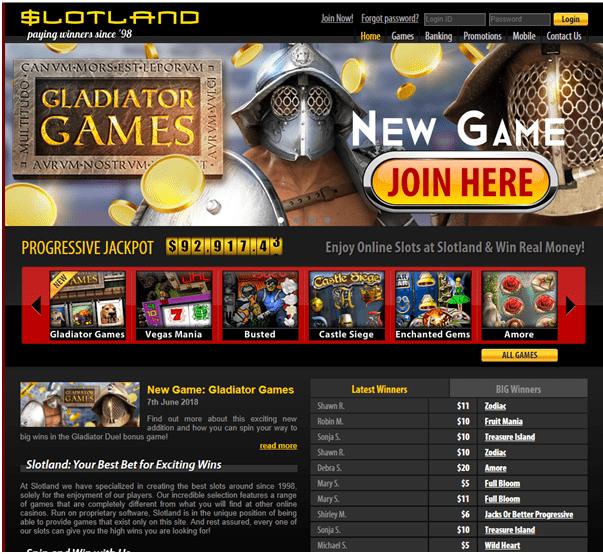 Slotland Casino pokies planet