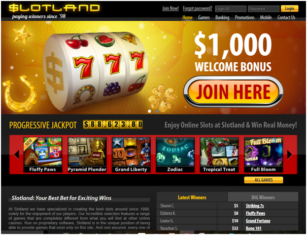 Slotland Casino Bonuses