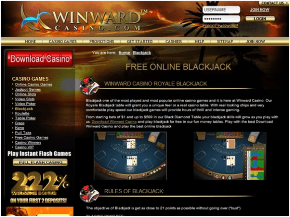 Playing with PC- winward casino