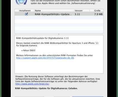 Mac Update – RAW Kompatibilität 3.11