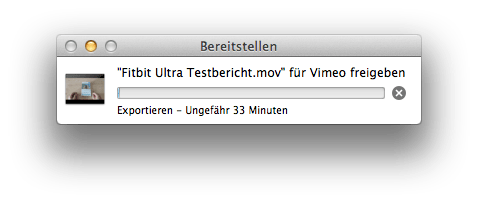 Vimeo Upload aus dem Finder