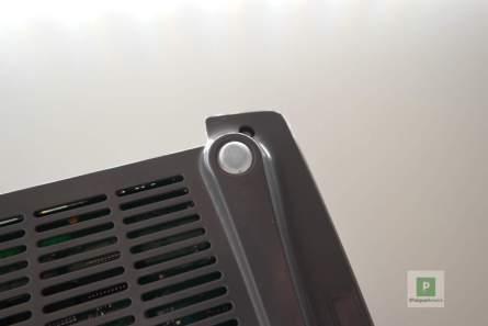 Unterseite des Routers mit dem Gummi-Fuss