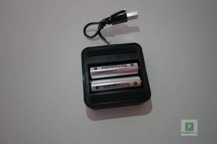 Eingelegte Batterien