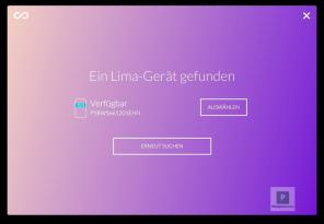 Lima - Erstkonfiguration