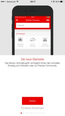 SBB Mobile Preview App